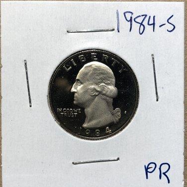 1984-S Proof Washington Quarter #3261