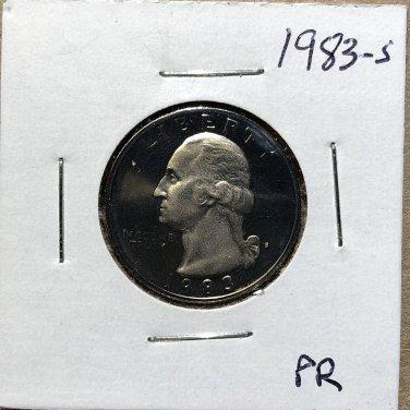 1983-S Proof Washington Quarter #1079
