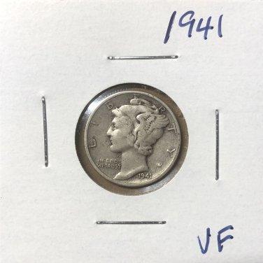 1941  Mercury Dime, #3664
