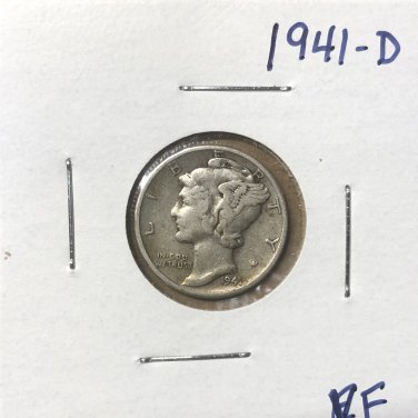 1941-D  Mercury Dime, #3665