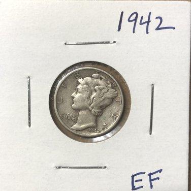 1942  Mercury Dime, #3666
