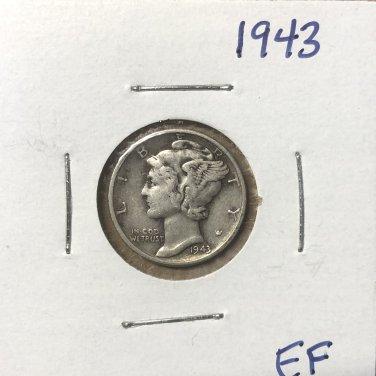 1943  Mercury Dime, #3668