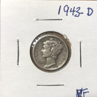 1943-D  Mercury Dime, #3669