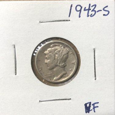 1943-S  Mercury Dime, #3671