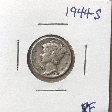 1944-S  Mercury Dime, #3672