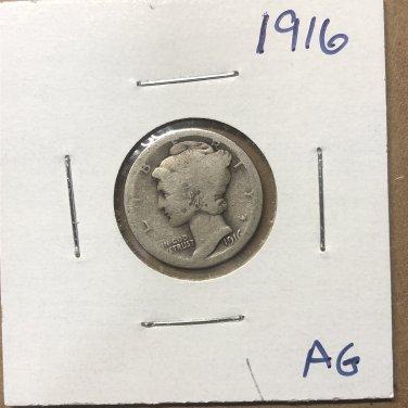 1916  Mercury Dime, #3674