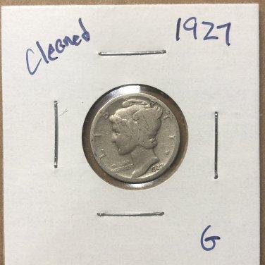 1927  Mercury Dime, #3675