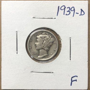 1939-D  Mercury Dime, #3676