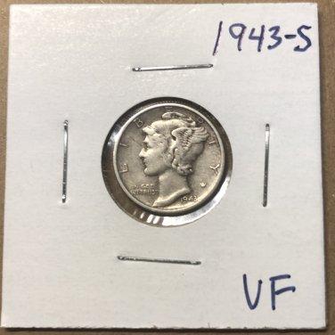 1943-S  Mercury Dime, #3679