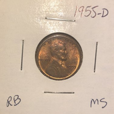 1955-D Lincoln Wheat Cent, #1802