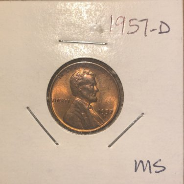 1957-D Lincoln Wheat Cent, #2055
