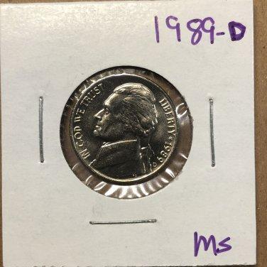 1989-D Jefferson Nickel, #3746