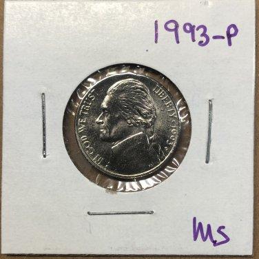1993-P Jefferson Nickel, #3735