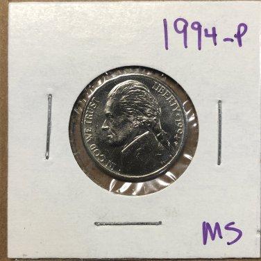 1994-P Jefferson Nickel, #3736