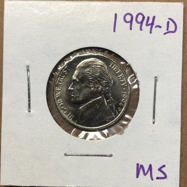 1994-D Jefferson Nickel, #3738