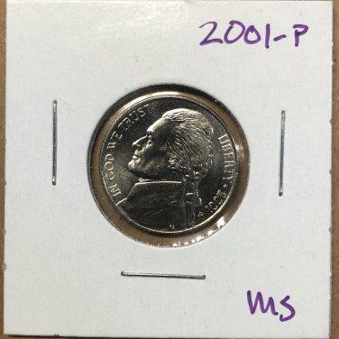 2001-P Jefferson Nickel, #3745