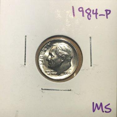 1984-P Roosevelt Dime, #3748
