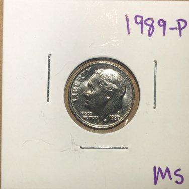 1989-P Roosevelt Dime, #3753