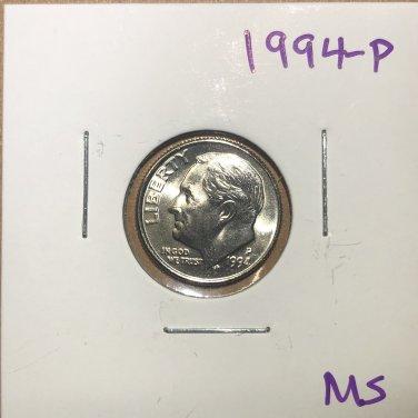 1994-P Roosevelt Dime, #3756