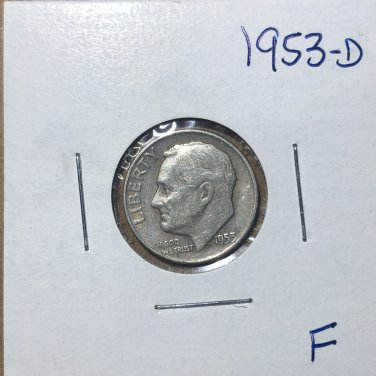 1953-D Roosevelt Silver Dime, #3136