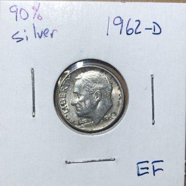 1962-D Roosevelt Silver Dime, #2717