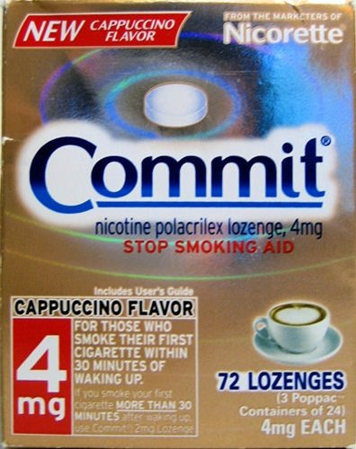 4 Boxes Nicorette Commit Cappuccino Lozenges 288 pc 4mg