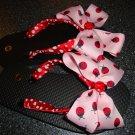 Red/pink ladybug flip flops