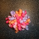 Lavender/pink/ orange hair clip