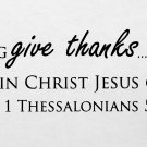 1 Thessalonians 5:18