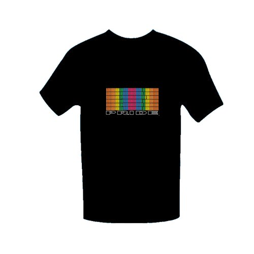 (PRIDE) LED SOUND RESPONSIVE SHIRTS-SIZE MENS X-LARGE