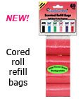 420 RED Dog Waste Bags - Cored Refills