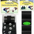 Black/White Paw Dispenser + 315 Waste Bags