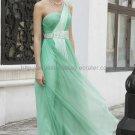One Shoulder Green Prom Dress Formal Evening Dress
