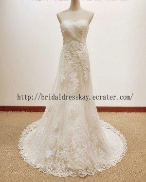 A line Lace Bridal Dress