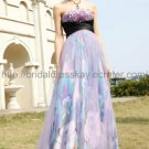 Empire Prom Dress Printed Evening Dress