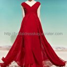 V-neck Red Prom Dress Evening Dress 2012