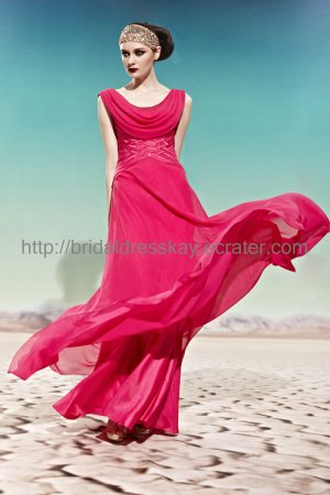 Boat Neck Red 2012 Evening Dress