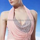 Halter Pink Evening Party Dress