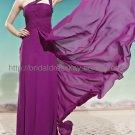 One Shoulder Purple Evening Party Dress