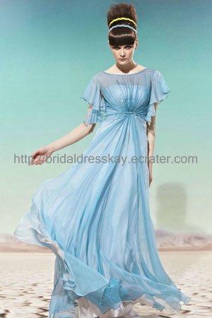 Modest Cap Sleeve Evening Dress Green Prom Dress