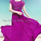 Modest Evening Dress Purple Bridesmaid Dress