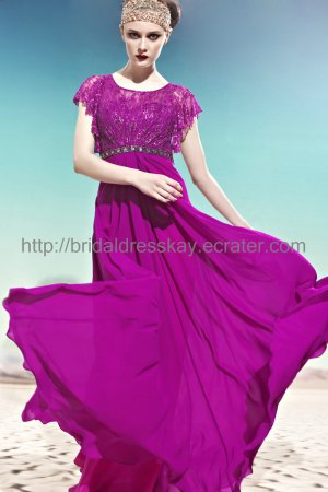 Modest Evening Dress Purple Bridesmaid Dress