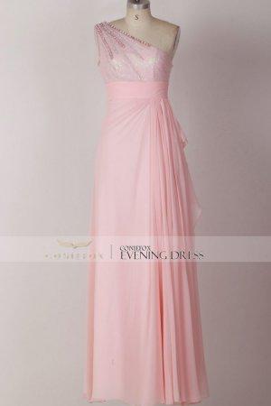 Pink Prom Dress Simple Evening Dress