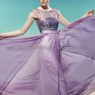 Modest Purple Evening Dress
