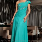 One Shoulder Green Prom Dress Evening Party Dress Bridesmaid Dress