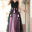 Straps Black Tulle Prom Dress Evening Party Dress Bridesmaid Dress
