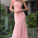 One Shoulder Mermaid Pink Prom Dress Evening Party Dress Bridesmaid Dress