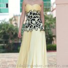 Floor Length Empire Yellow Prom Dress Evening Party Dress Bridesmaid Dress