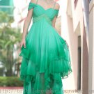 Hi low Green Sexy Prom Dress Evening Party Dress Bridesmaid Dress