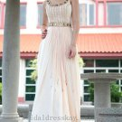 Floor Length Scoop Neck Evening Party Dress Bridesmaid Dress Prom Dress